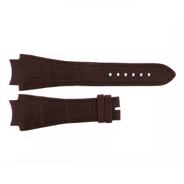 純正ストラップ STRAP ハリー・ウィンストン オーシャン44mm用 ブラウンクロコ 艶無 - メンズ 腕時計替えベルト 【新品】