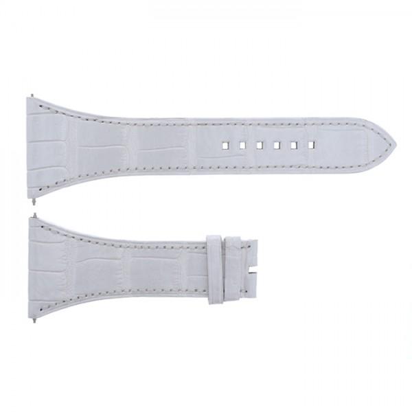 純正ストラップ STRAP ハリー・ウィンストン スクエアード用 ホワイトクロコ - メンズ 腕時計替えベルト 【新品】