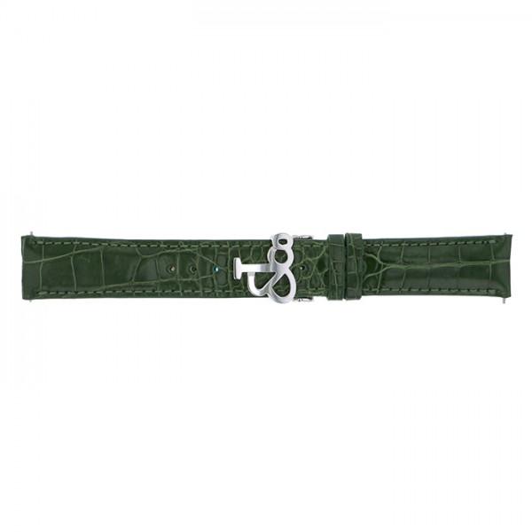 純正ストラップ STRAP ジェイコブ グリーンクロコ(ロング) - メンズ 替えベルト 【新品】