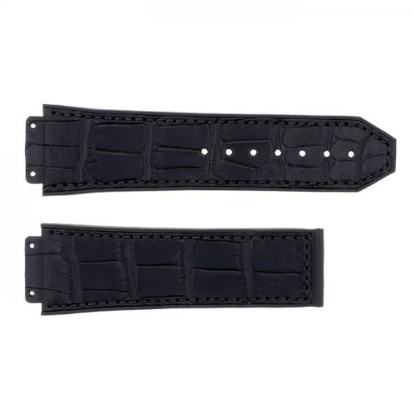 純正ストラップ STRAP ウブロ クラシックフュージョン ブラックグミアリゲーターラバー - メンズ 腕時計替えベルト 【新品】