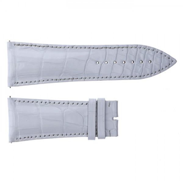 【期間限定ポイント3倍 8/2~8/9】 純正ストラップ STRAP フランク・ミュラー 10000K用 ホワイトクロコ 艶無 新品 腕時計替えベルト メンズ