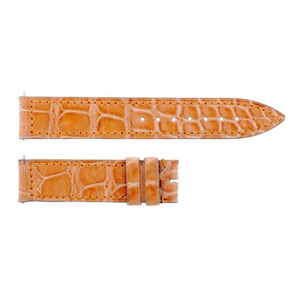 純正ストラップ STRAP フランク・ミュラー 900/902用 オレンジ(艶有)クロコ 新品 腕時計替えベルト レディース