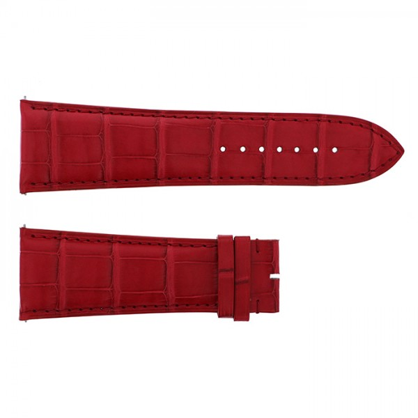 純正ストラップ STRAP フランク・ミュラー 10000K用 レッドクロコ 艶無 新品 腕時計替えベルト メンズ