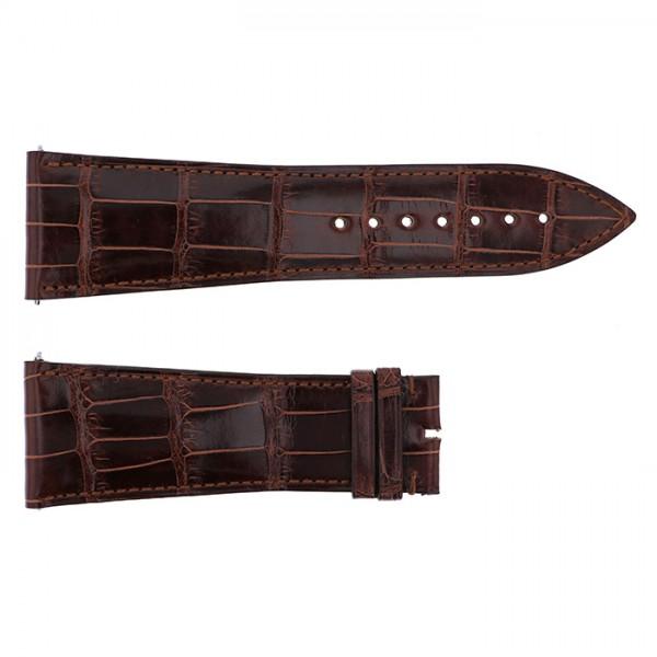 純正ストラップ STRAP フランク・ミュラー 10000K用 ブラウンクロコ 艶有 新品 腕時計替えベルト メンズ
