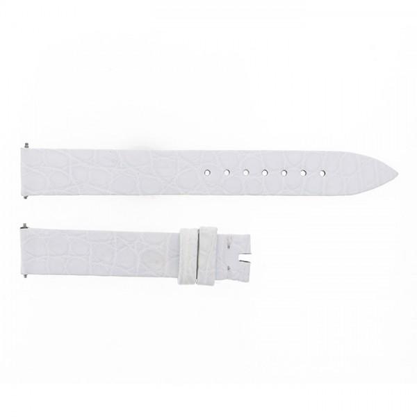 純正ストラップ STRAP フランク・ミュラー 802QZ用 ホワイトクロコ 艶無 新品 腕時計替えベルト レディース