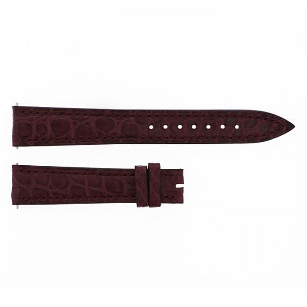 純正ストラップ STRAP フランク・ミュラー 1750用 赤茶クロコ 艶無 新品 腕時計替えベルト レディース
