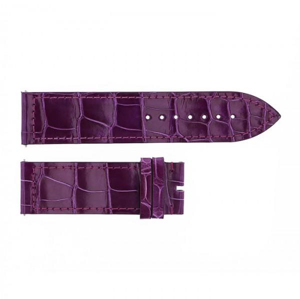 純正ストラップ STRAP フランク・ミュラー 1000/1002用 パープルクロコ 艶有 新品 腕時計替えベルト メンズ