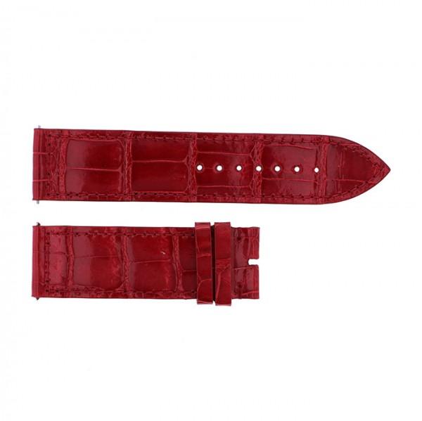 純正ストラップ STRAP フランク・ミュラー 1000/1002用 レッドクロコ 艶有 新品 腕時計替えベルト メンズ
