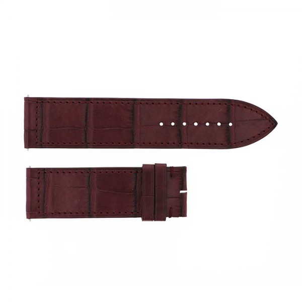 純正ストラップ STRAP フランク・ミュラー 1000/1002用 レッドブラウンクロコ 艶無 新品 腕時計替えベルト メンズ