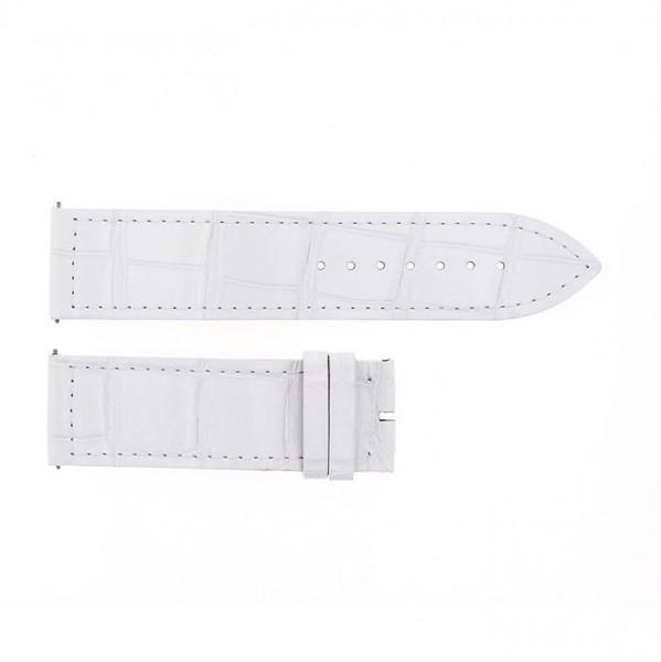 純正ストラップ STRAP フランク・ミュラー 1000/1002用 ホワイトクロコ 艶有 新品 腕時計替えベルト メンズ
