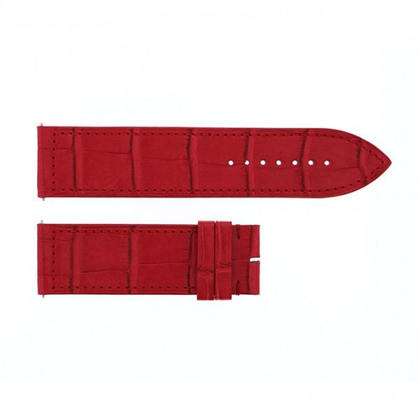 純正ストラップ STRAP フランク・ミュラー 1000/1002用 レッドクロコ 艶無 新品 腕時計替えベルト メンズ