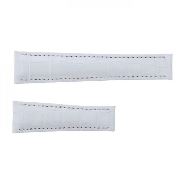 純正ストラップ STRAP ロレックス デイトナ用(Lサイズ) ホワイトクロコ 新品 腕時計替えベルト メンズ