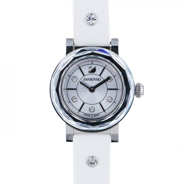 スワロフスキー SWAROVSKI スワロフスキー ダイヤモンド シルバー文字盤 レディース 腕時計 【中古】