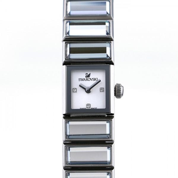 スワロフスキー SWAROVSKI バゲット 999984 ホワイト文字盤 レディース 腕時計 【中古】