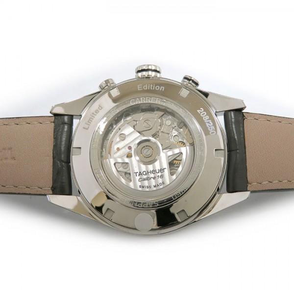 タグ・ホイヤー TAG HEUER カレラ タキメータークロノ デイデイト 世界限定250本 CV2A1L.FC6313 グレー文字盤 メンズ 腕時計 【新品】