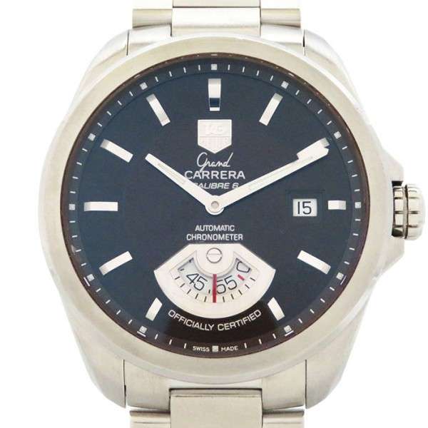 タグ・ホイヤー TAG HEUER カレラ グランドカレラ WAV511C ブラック文字盤 メンズ 腕時計 【中古】