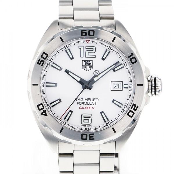 タグ・ホイヤー TAG HEUER フォーミュラ1 キャリバー5 WAZ2114.BA0875 ホワイト文字盤 メンズ 腕時計 【中古】