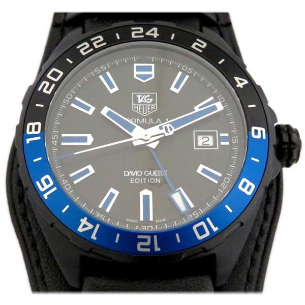 タグ・ホイヤー TAG HEUER フォーミュラ1 GMT デヴィッド・ゲッタ WAZ201A.FC8195 ブラック文字盤 メンズ 腕時計 【新品】