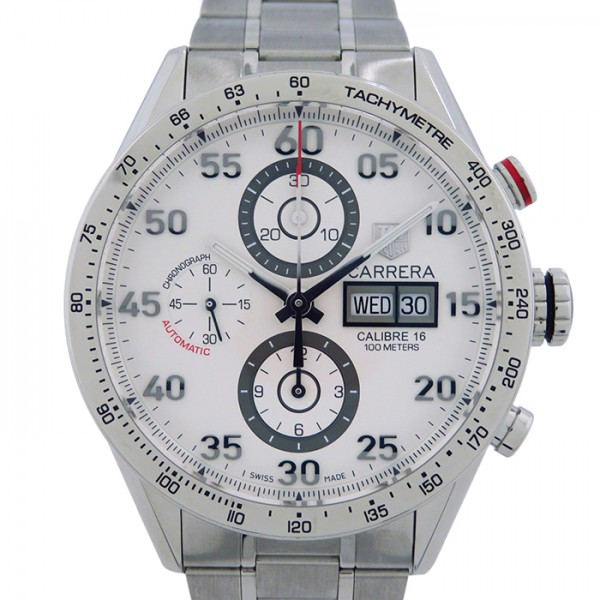 世界的に タグ・ホイヤー TAG HEUER カレラ タキメーター クロノグラフ デイデイト CV2A11.BA0796 シルバー文字盤  腕時計 メンズ, ハノウラチョウ 1ff7ae2f