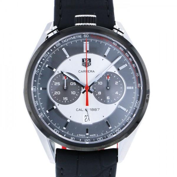 タグ・ホイヤー TAG HEUER カレラ クロノ キャリバー1887 ジャック・ホイヤー記念モデル CAR2C11.FC6327 シルバー/ブラック文字盤 メンズ 腕時計 【中古】