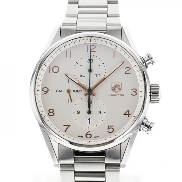 タグ・ホイヤー TAG HEUER カレラ キャリバー1887 CAR2012.BA0799 ホワイト文字盤 メンズ 腕時計 【中古】