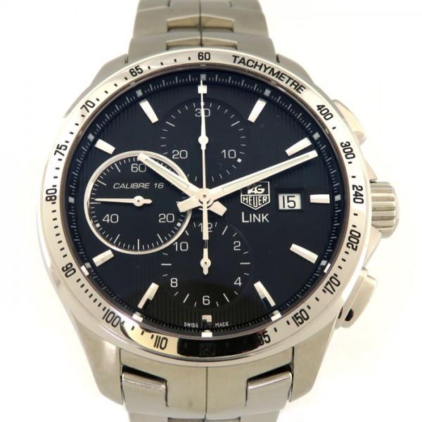 タグ・ホイヤー TAG HEUER リンク キャリバー16 クロノグラフ CAT2010.BA0952 ブラック文字盤 メンズ 腕時計 【中古】