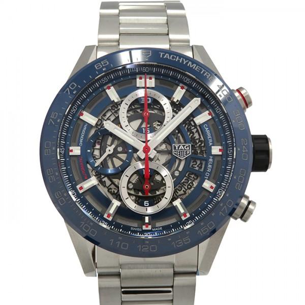 タグ・ホイヤー TAG HEUER カレラ キャリバー ホイヤー01 クロノグラフ CAR201T.BA0766 ブルー文字盤 メンズ 腕時計 【新品】