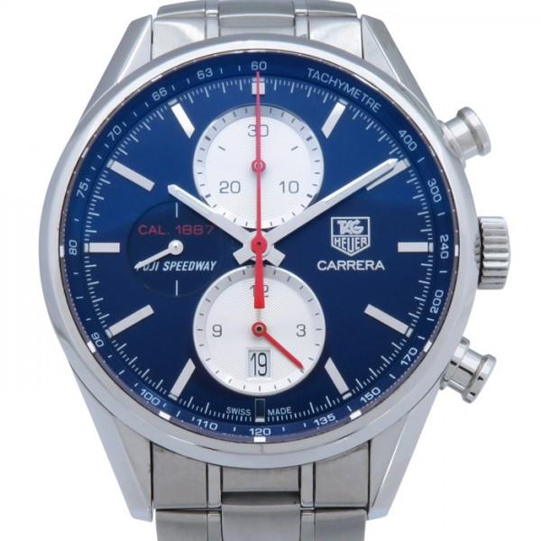 タグ・ホイヤー TAG HEUER カレラ 1887 クロノグラフ 日本限定 CAR211B.BA0724 ブルー文字盤 メンズ 腕時計 【中古】