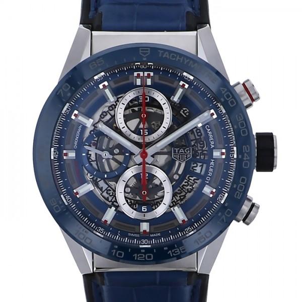 タグ・ホイヤー TAG HEUER カレラ キャリバーホイヤー01 CAR201T.FC6406 ブラック文字盤 メンズ 腕時計 【新品】