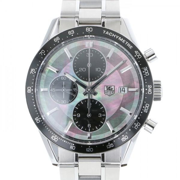 タグ・ホイヤー TAG HEUER カレラ クロノグラフ ブラックパール 日本限定600本限定 CV201K.BA0794 ブラック文字盤 メンズ 腕時計 【中古】