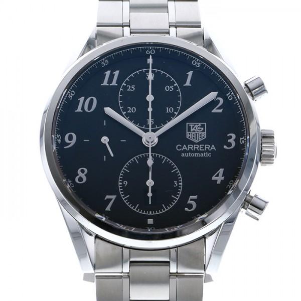 タグ・ホイヤー TAG HEUER カレラ ヘリテージ クロノグラフ CAS2110.BA0730 ブラック文字盤 メンズ 腕時計 【中古】
