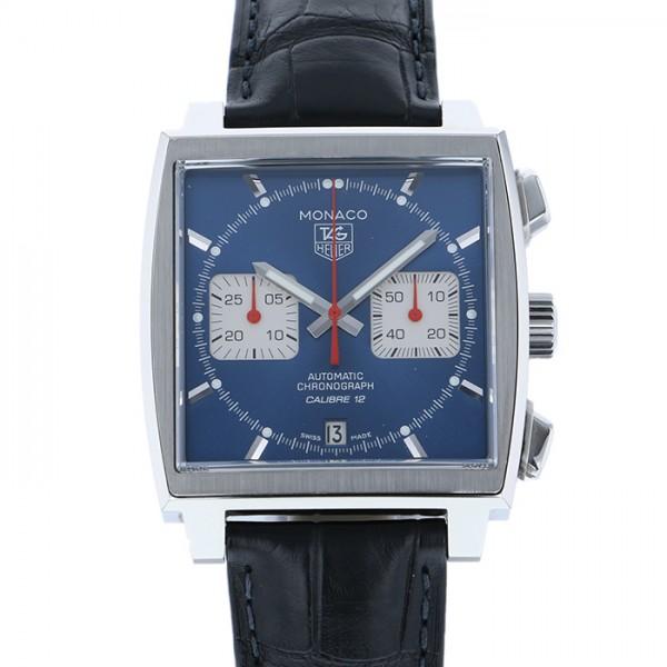 タグ・ホイヤー TAG HEUER モナコ キャリバー12 CAW2111 ブルー文字盤 メンズ 腕時計 【中古】