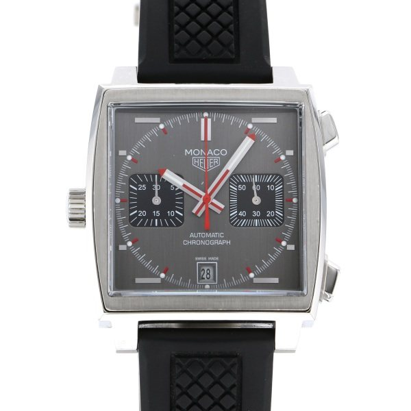 【全品 ポイント10倍 4/9~4/16】タグ・ホイヤー TAG HEUER モナコ ヴィンテージ 世界1860本限定 CAW211B.FC6241 グレー文字盤 メンズ 腕時計 【中古】
