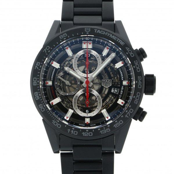 タグ・ホイヤー TAG HEUER カレラ キャリバー ホイヤー01 クロノグラフ フルセラミック CAR2090.BH0729 シルバー文字盤 メンズ 腕時計 【中古】
