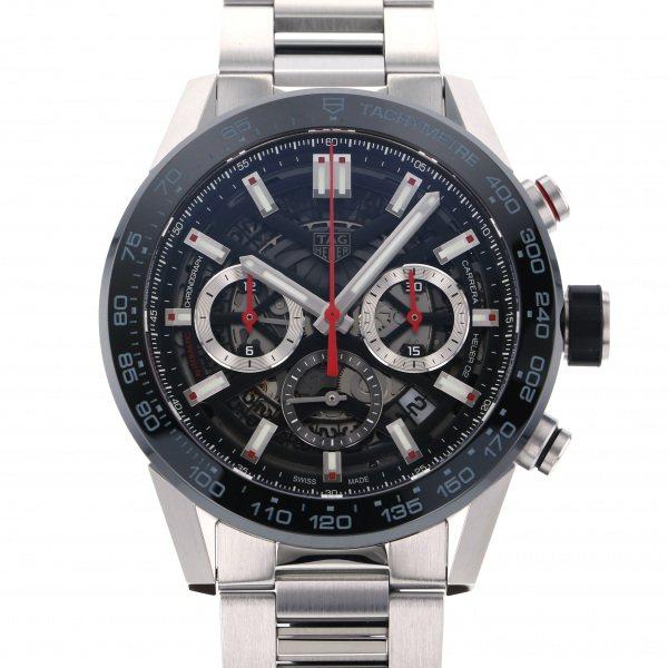タグ・ホイヤー TAG HEUER カレラ キャリバー ホイヤー02 クロノグラフ CBG2A10.BA0654 ブラック/シルバー文字盤 メンズ 腕時計 【新品】