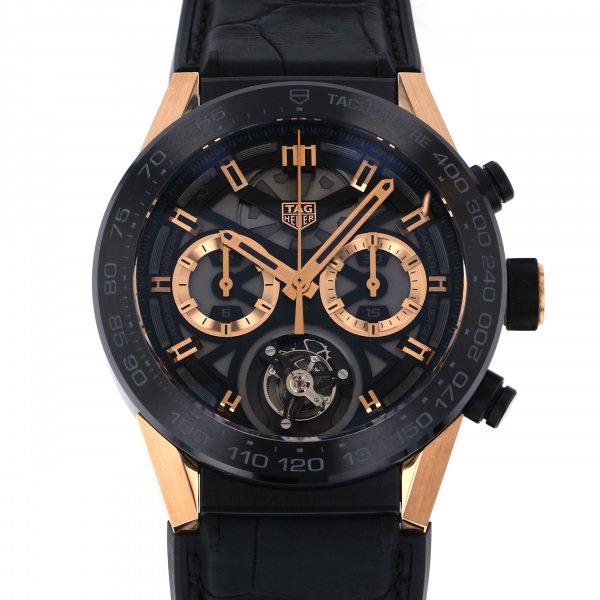 タグ・ホイヤー TAG HEUER カレラ キャリバー ホイヤー02 T CAR5A5U.FC6377 ブラック/ゴールド文字盤 メンズ 腕時計 【中古】