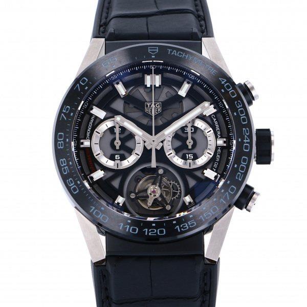 タグ・ホイヤー TAG HEUER カレラ キャリバー ホイヤー02T トゥールビヨン CAR5A8Y.FC6377 グレー文字盤 メンズ 腕時計 【未使用】