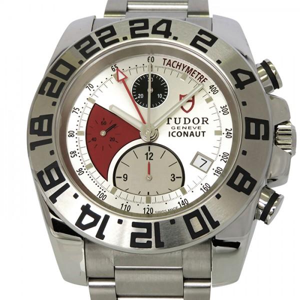 【期間限定ポイント5倍 5/5~5/31】 チューダー(チュードル) TUDOR その他 アイコノート GMTクロノグラフ 20400 GMT シルバー文字盤 メンズ 腕時計 【新古品】