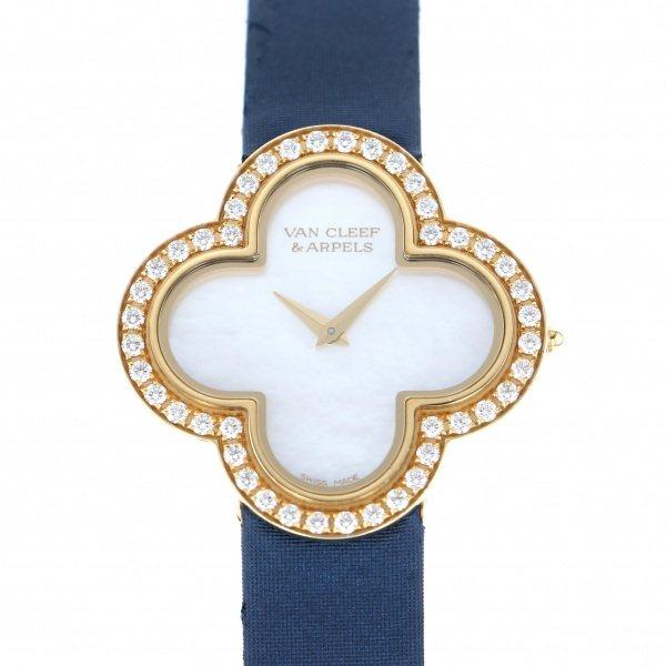 ヴァンクリーフ&アーペル VAN CLEEF & ARPELS その他 アルハンブラ ミディアムモデル VCARF52800 ホワイト文字盤 レディース 腕時計 【中古】