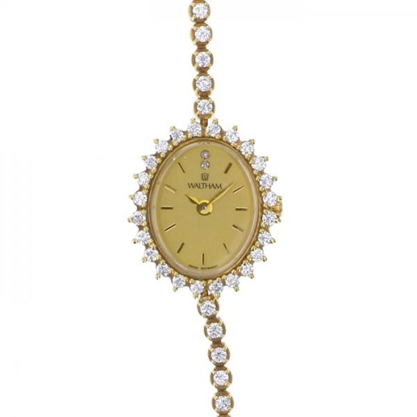 af0eefbec6c9 ウォルサム WALTHAM レディース腕時計 ゴールド文字盤 レディース 腕時計 【アンティーク】