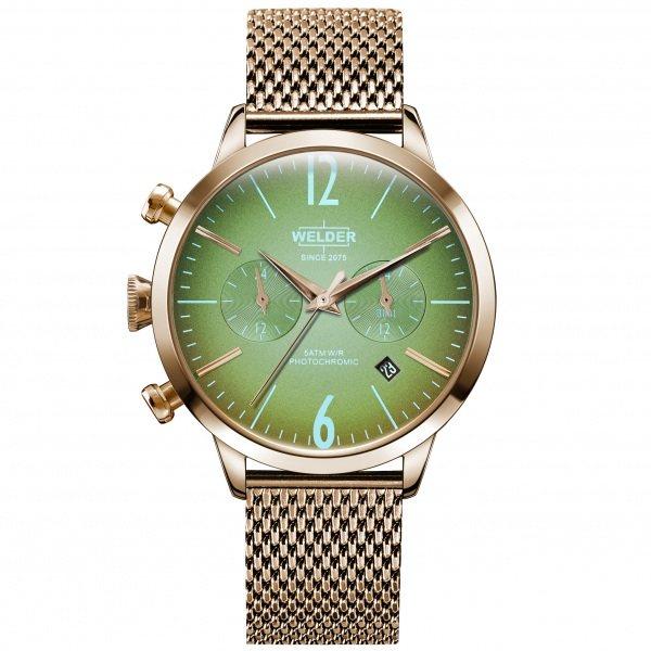 【期間限定ポイント5倍 5/5~5/31】 ウェルダー WELDER その他 ムーディ WWRC605 グリーン文字盤 メンズ 腕時計 【新品】