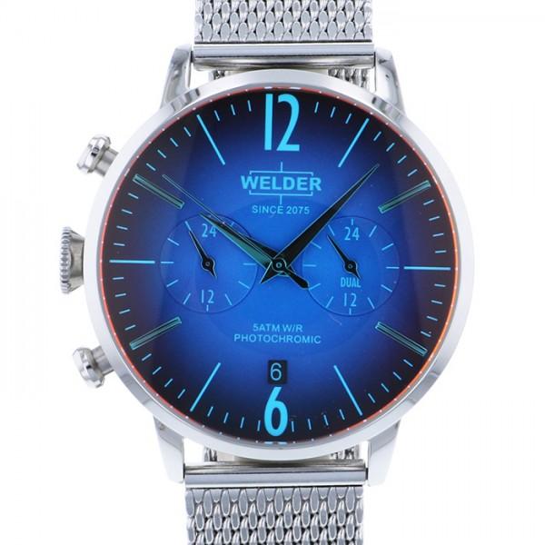 ウェルダー WELDER その他 MOODY DUAL TIME 42MM WWRC800 ブルー文字盤 メンズ 腕時計 【新品】