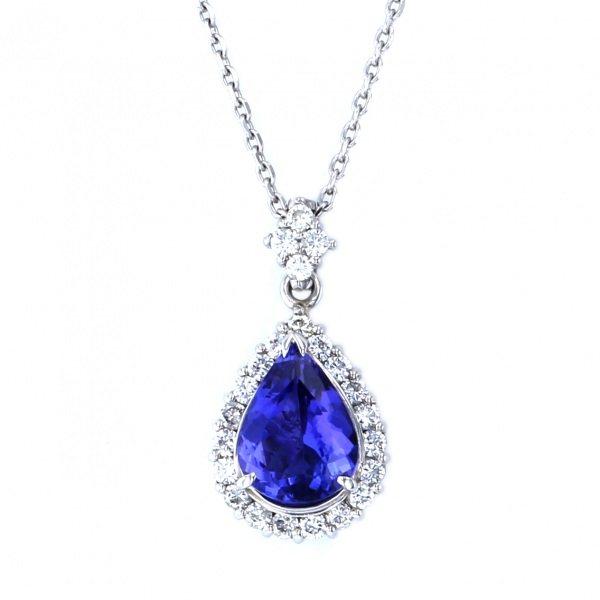 【安心発送】 PT950 PT850 タンザナイト ダイヤモンド ネックレス/ペンダント, きものひろば悠 2e8510c5