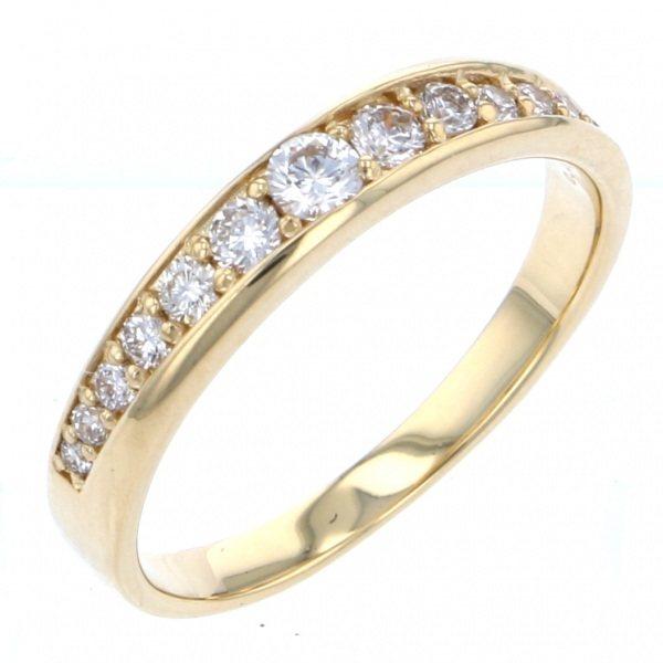 K18YG イエローゴールド ダイヤモンド リング:ジェムキャッスルゆきざき