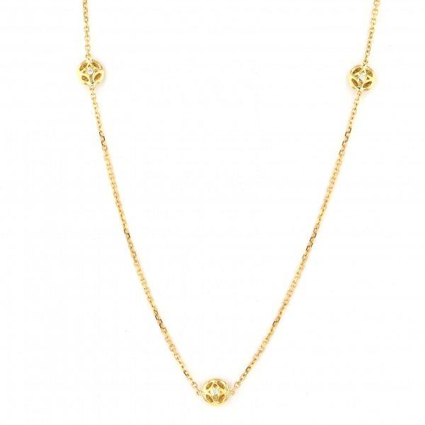 K18YG イエローゴールド ダイヤモンド ネックレス/ペンダント