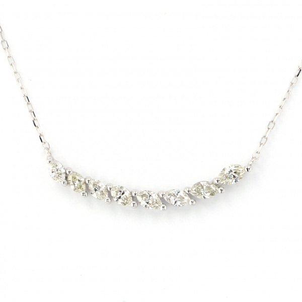 <title>K18WG ついに再販開始 ホワイトゴールド ダイヤモンド ネックレス ペンダント</title>