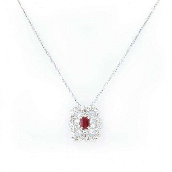 【期間限定ポイント3倍 8/2~8/9】 PT900 PT850 ベリル ダイヤモンド ネックレス/ペンダント