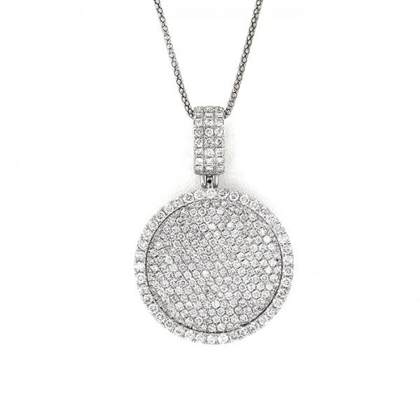 K18WG ホワイトゴールド ダイヤモンド ネックレス/ペンダント