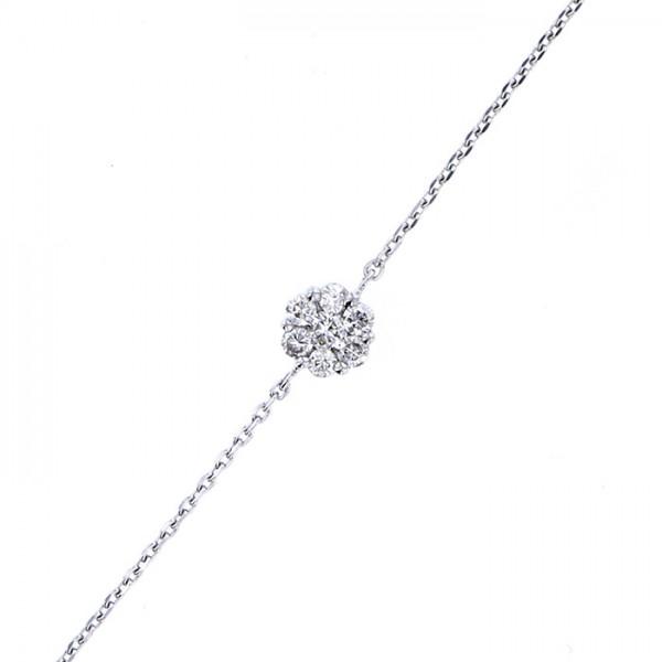 Nimatullah charm. 5 3//4 inch Oval Eye Hook Bangle Bracelet with a St