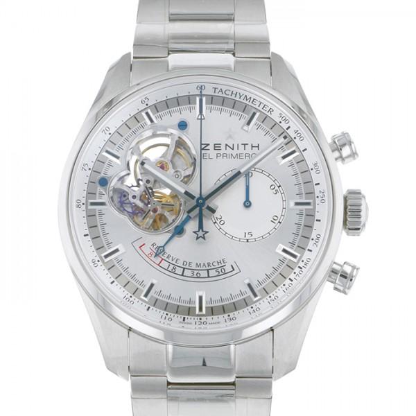 ゼニス ZENITH ニス クロノマスター オープンパワーリザーブ 03.2080.4021/01.M204 シルバー文字盤 メンズ 腕時計 【新品】